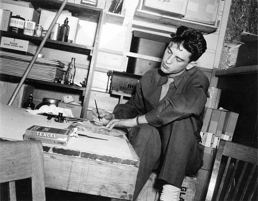 Pfc Eve at work (Tokyo, Japan 1945)