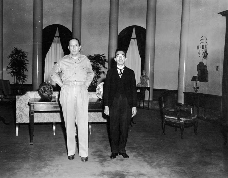 MacArthur and Emperor Hirohito