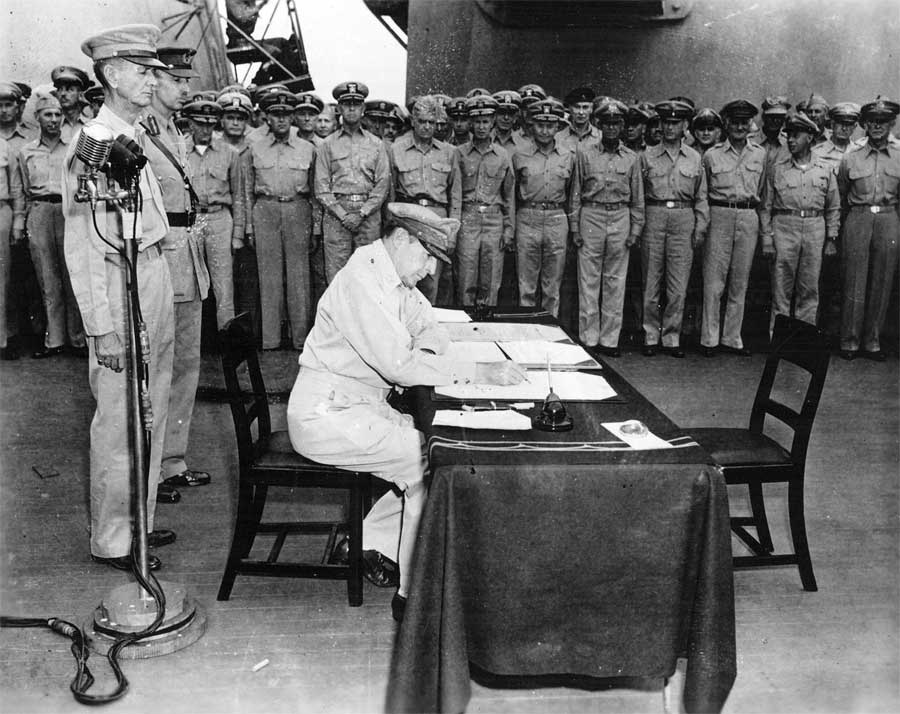 General MacArthur Signs Treaty